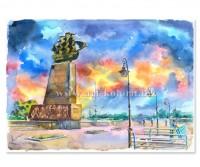 Набережная. Фонарь. Памятник